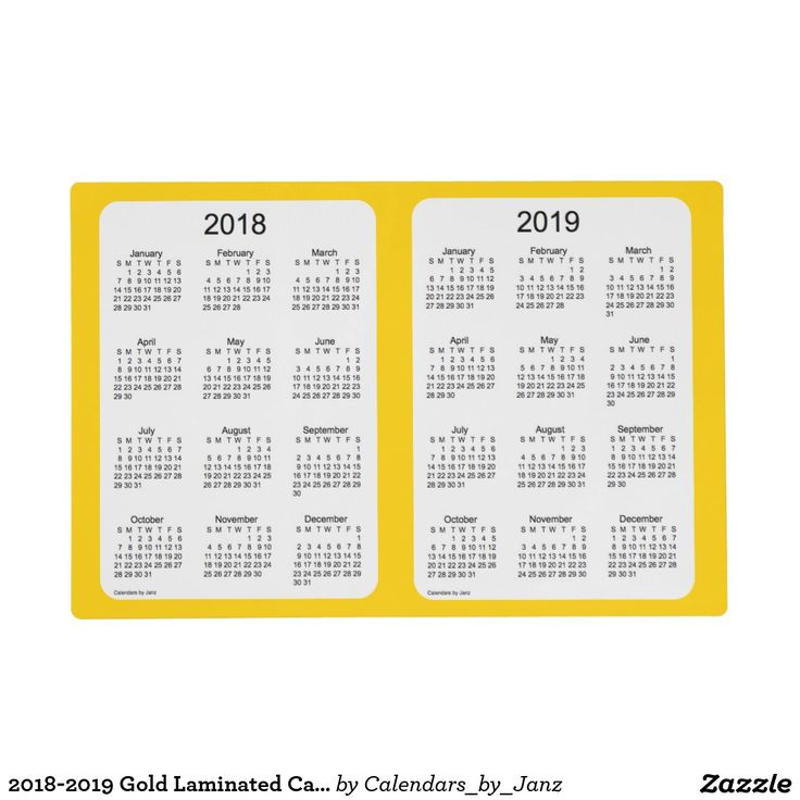 2018-2019 Gold Laminated Calendar by Janz Placemat