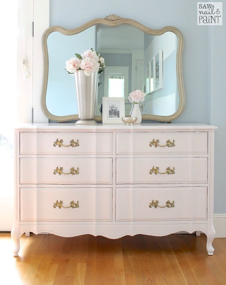 Beautiful Silky Smooth French Provincial Dresser With Mirror