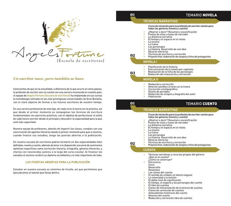 Nuestra Escuela de Escritores te espera.  Pide información en angelsfortuneditions@gmail.com