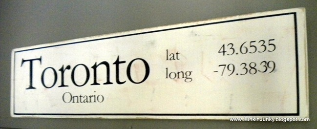 making signs...latitude and longitude. Neat