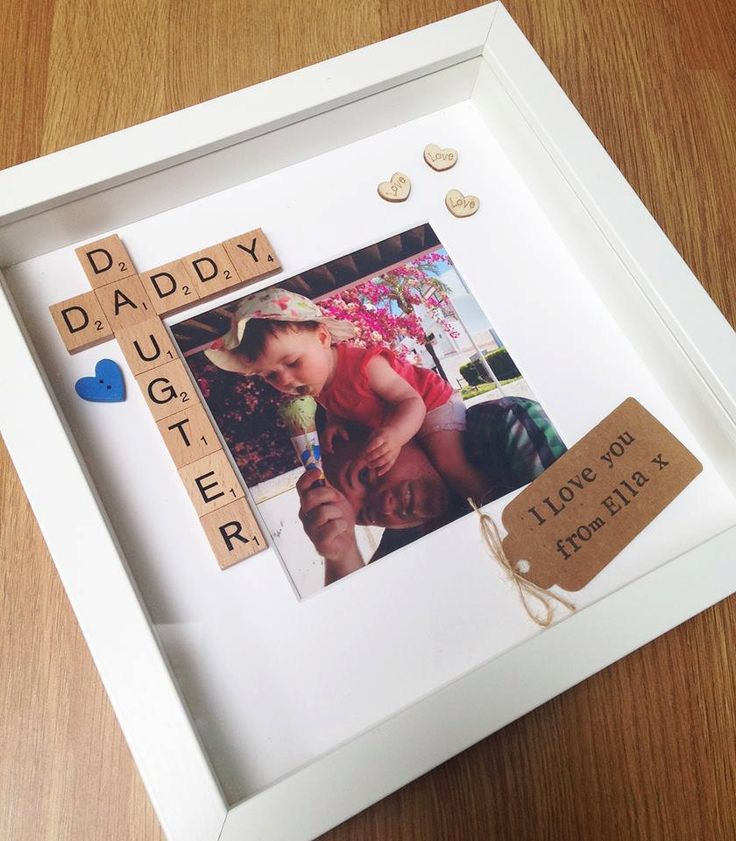 Daddy daughter personalised photo frame by LittleThingsByLucy