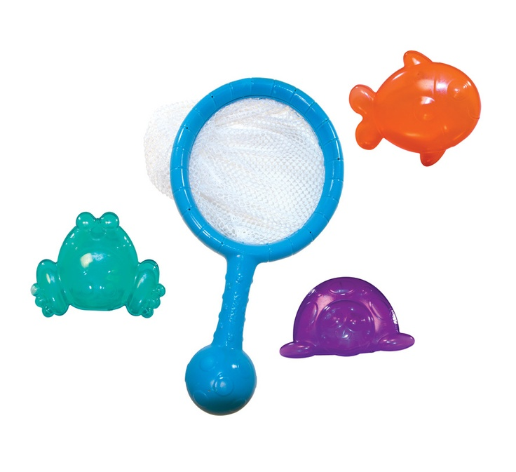 Sassy Catch N Release Net Bath Toy Colorful Floating Characters Easy To  Grasp Net Baby Will