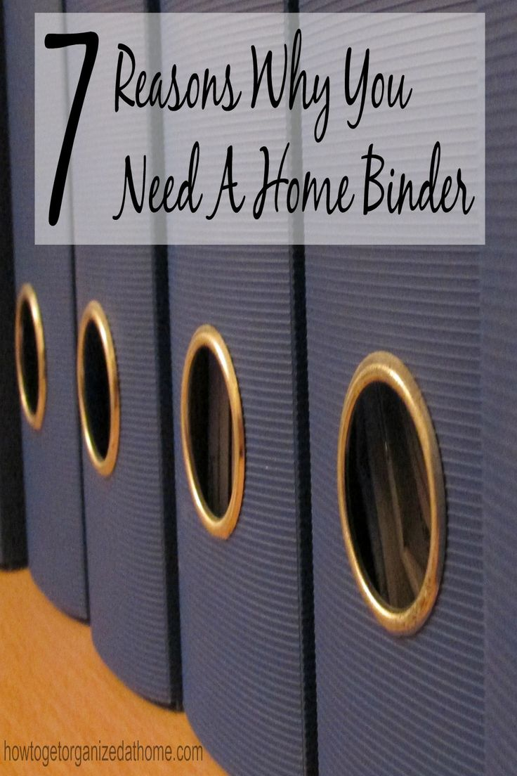 Having a home binder is important if you want to run an organized home!