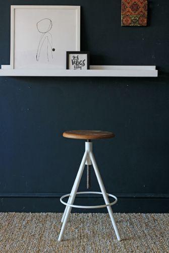 Svalbard Adjustable Wooden Bar Stool - White