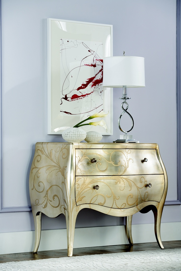 Jessica McClintock Collection - ACCENT SILVER LEAF CHEST #jessicamcclintock  #americandrew #furniture #bedroom