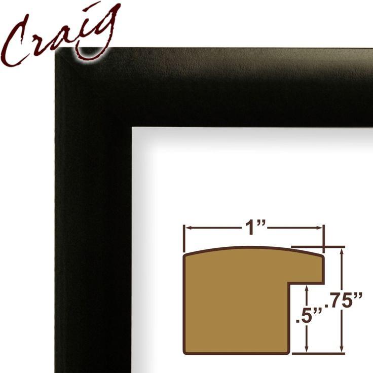 Craig Frames Inc 8.5x11 Contemporary Black Picture Frame (1WB3BK)