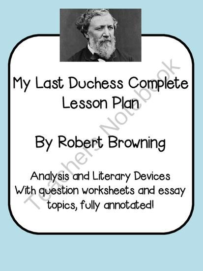 my last duchess essay analysis Themes in my last duchess, analysis of key my last duchess themes.