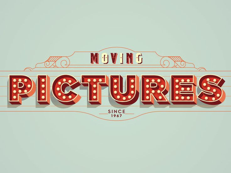 Moving Pictures // Typography by Alex Perez