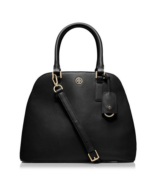 """This is my """"it"""" bag that I can't wait to own someday Tory Burch ROBINSON OPEN DOME SATCHEL - BLACK"""