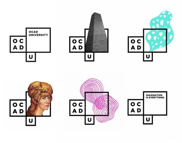 Identité OCAD - Université de Toronto - Bruce Mau Design - Une multiplicité de signes, qui s'accroit chaque année/au fil des sessions, ... modulaire et infinie, pour faire passer la diversité de regards liée à cette école