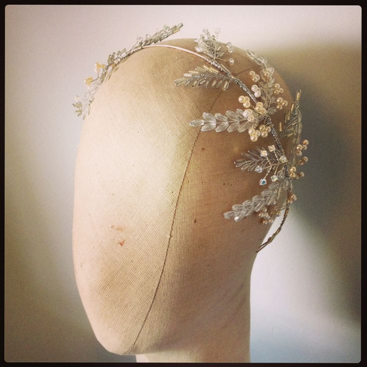 Laurel leaf tiara by Samantha Walden