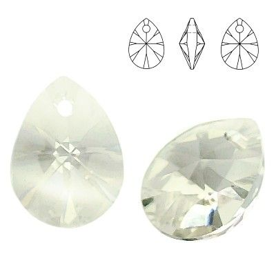 6128 Mini Pear 8mm Silver Shade 5 pieces  Dimensions: 8,0mm Colour: Silver Shade 1 package = 5 pieces