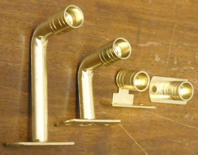 Solid 3/8 Inch Curtain Rod and Brackets and Rings