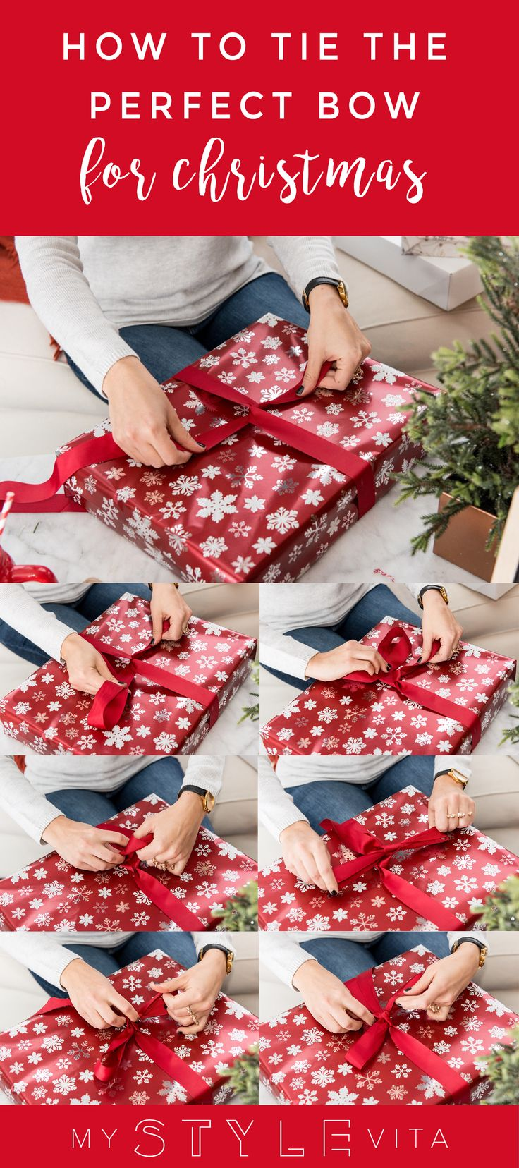 A step by step guide to create the perfect bow for all your christmas presents this year. @mystylevita