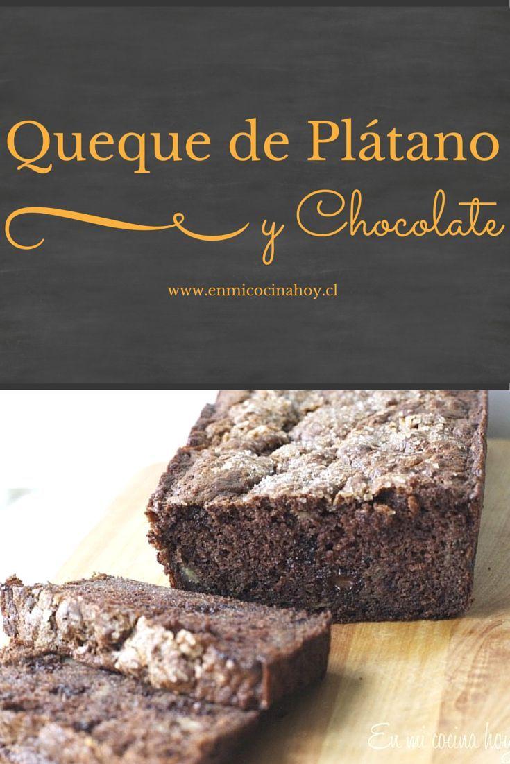 Tienes plátanos maduros, prueba hacer este delicioso queque de plátano con chocolate, no te vas a arrepentir.
