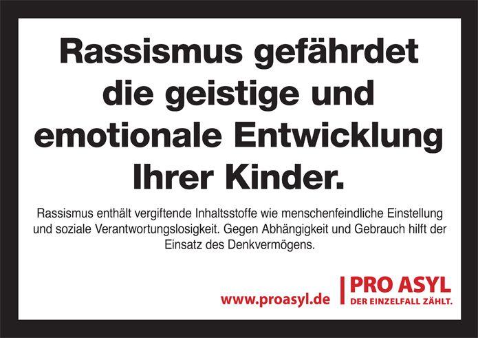 Gemeinsam gegen Rassismus! :: Pro Asyl                                                                                                                                                      Mehr