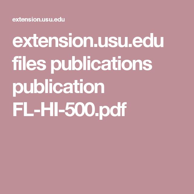 extension.usu.edu files publications publication FL-HI-500.pdf