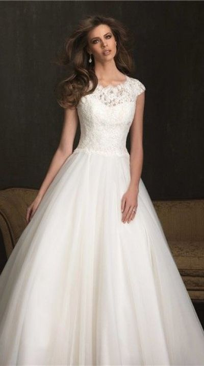 modost lace ball gown wedding dress