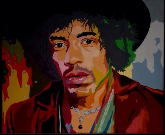 """Jimi Hendrix"" By K.s . . .  (60 X 50cm) Acrylic on canvas. . ."