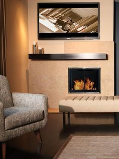 Gas fireplace inserts fireplace inserts and gas fireplaces on pinterest - Contemporary fireplace insert for a warm living room ...