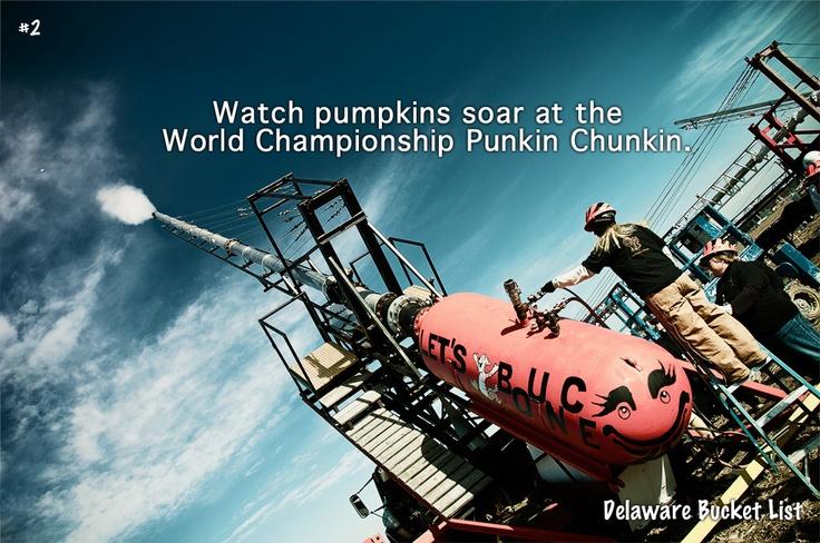 Delaware bucket list: Watch pumpkins soar at the Punkin Chunkin