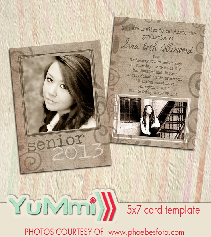 The 25+ best Senior graduation invitations ideas on Pinterest - graduation invitation template