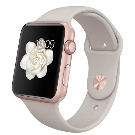 Apple Watch Series 1, 38mm Rose Gold Aluminum Case with Lavender Sport Band - Oceanside Store