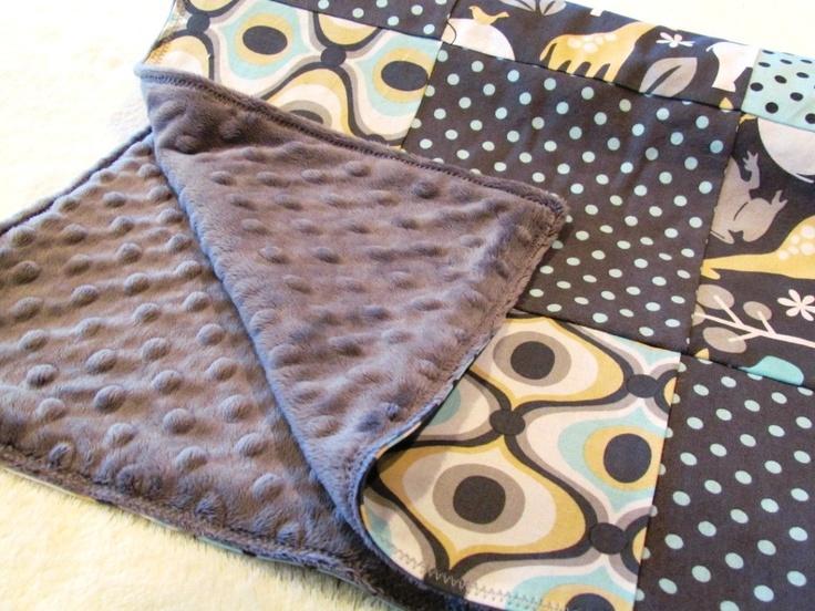 Baby Blanket, Zoology Patchwork Blanket with Grey Minky. $50.00, via Etsy.: Babies, 5000, Grey Minki, Baby Blankets, Blankets Zoology, Zoology Patchwork, Patchwork Blankets, Baby Stuff
