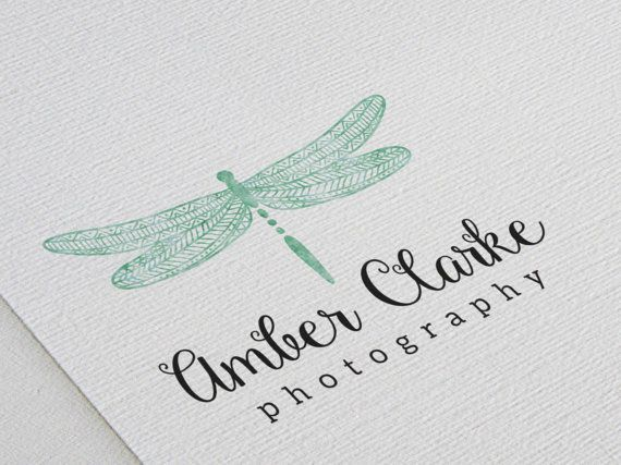 Premade Logo Design / Watercolor Emerald by SmallBottleCreations
