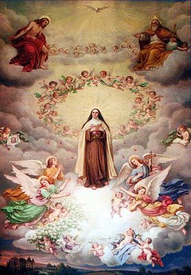 St. Therese, a rose from above, pray for us!