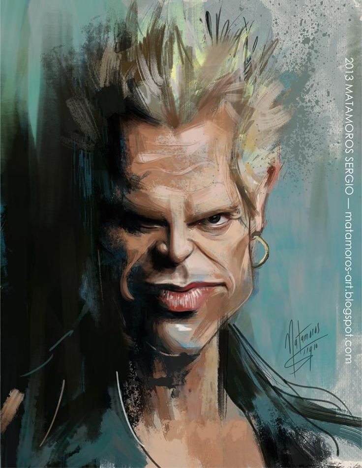 My Billy Idol. Great Singer. Funny cartoon pictures