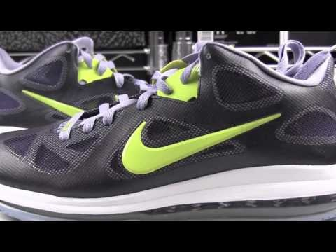 Video: Nike LeBron 9 Low Cyber Last week the Nike LeBron 9 Low Cyber  started hitting retailers unannounced, and today we got our hands on a pair  to present ...