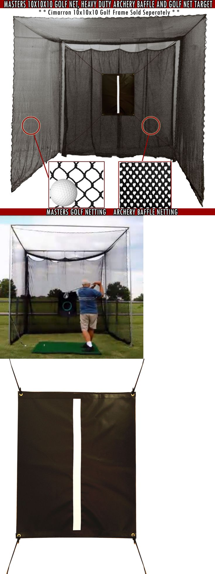 Nets Cages and Mats 50876: Golf Net Indoor Outdoor 10X10 Driving Practice Netting Training Aid W Baffle -> BUY IT NOW ONLY: $196.95 on eBay!