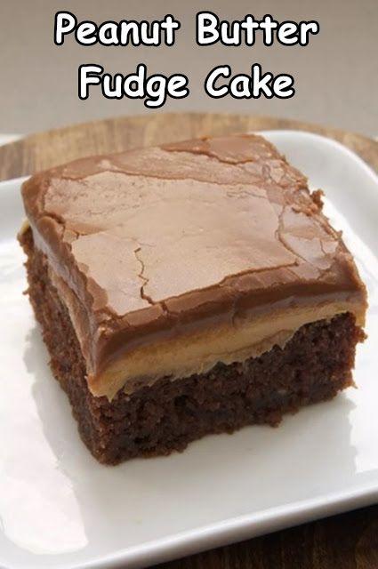 Peanut Butter Fudge Cake – Felix Food & Recipes