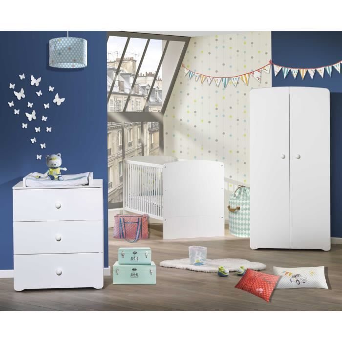 Baby Price New Basic Chambre Bebe Complete Lit Evolutif 70 X 140