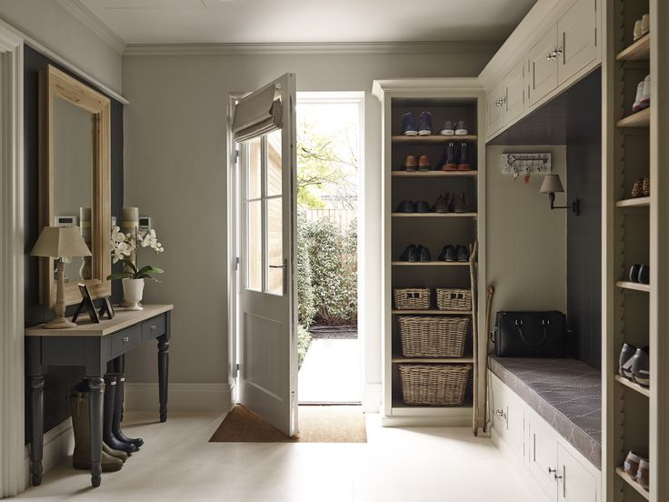 Creative hallway storage solution by Sims Hilditch by Sims Hilditch