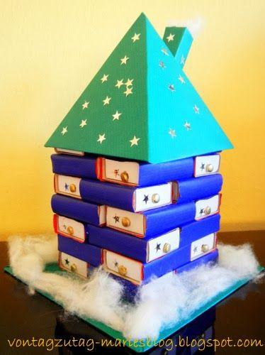 @vontagzutagmari Das Adventhaus. Ein etwas anderer Adventkalender. Leicht nachzubauen, auch für Kinder. http://vontagzutag-mariesblog.blogspot.com