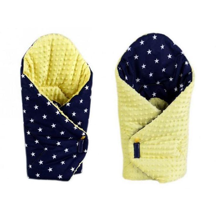 Эксклюзивный конверт одеяло двубортный в подарок Звезды синий серый в подарок малышу на выписку. Выполнен из американского 100% гипоаллергенного хлопка, застежки – липучки, наполнитель – синтепон по сезону. Может быть использован как плед в коляску, заворачивать малыша можно с обеих стор