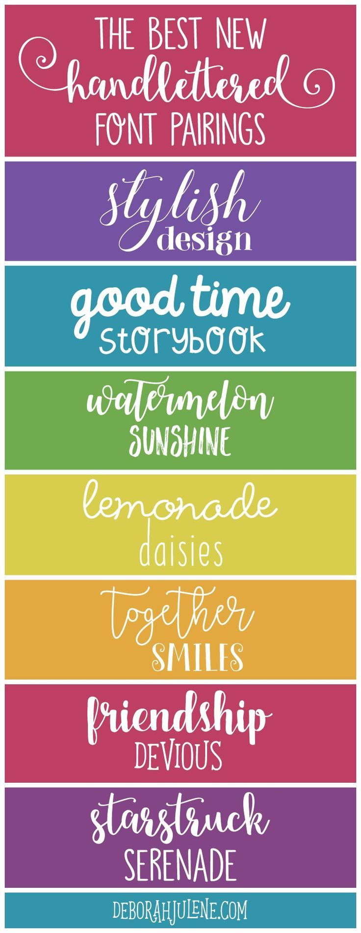 best ideas about font pairings font combinations 7 of the best new handlettered font pairings