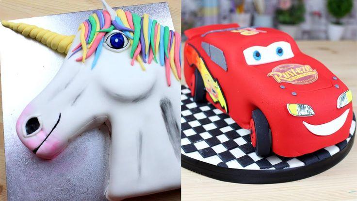 Neste vídeo você vai encontrar incríveis bolos decorados passo a passo em uma compilação incrível.  Você aprenderá de forma compilada, um bolo de unicórnio, bolo do minecraft, bolo de castelo da princesa Sofia e um bolo do McQueen!