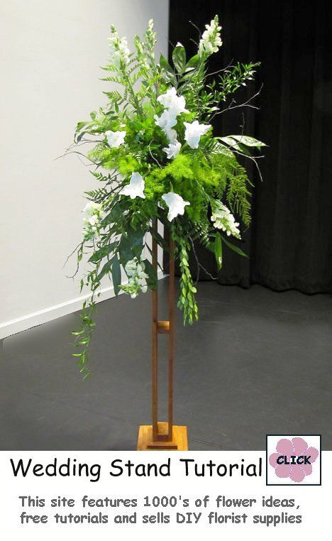 Flowered Wedding Church Stand Tutorial - step by step photos and instructions on how to create a large stand spray for weddings or other large events.
