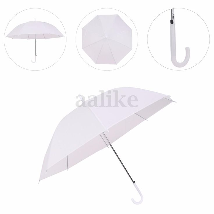 White Automatic Parasol Wedding Rain Sun Favor Umbrella Birthday Party Decor Hot