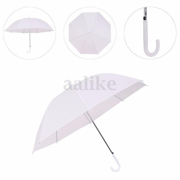 White Automatic Parasol Wedding Rain Sun Favor Umbrella Birthday Party Decor Hot