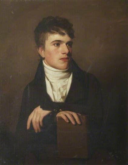 John James Ruskin (1785–1864), by George Watson, 1802, The Brantwood Trust. John Ruskin's father, John James, was a wealthy wine merchant of Scottish origins, partner in the firm John Ruskin, Telford & Domecq.