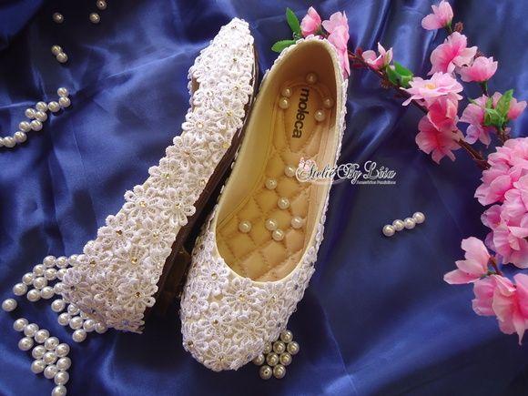 Sapatilha Rendada - Noivas e debutantes