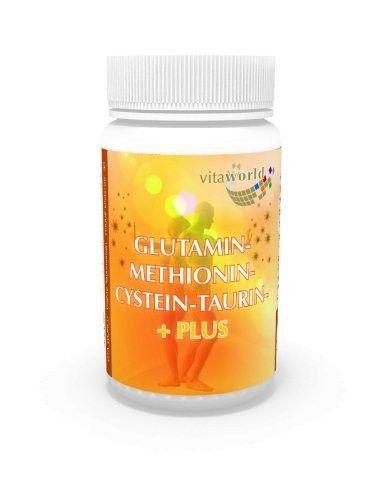 Glutamine 5000mg + methionine cysteine taurine 60 Capsules German pharmacy production