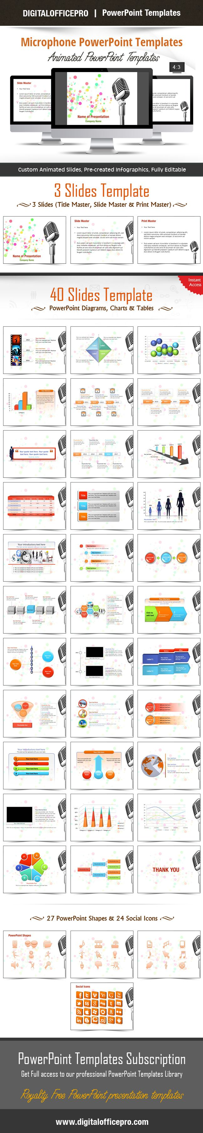 43 best diagrams powerpoint templates images on pinterest impress and engage your audience with microphone powerpoint template and microphone powerpoint backgrounds from digitalofficepro toneelgroepblik Image collections