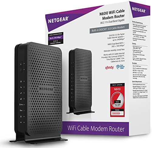 #wow 2-in-1 #WiFi router and DOCSIS 3.0 cable modem provides a high-speed cable Internet connection Built in DOCSIS 3.0 modem - 8 times faster than DOCSIS 2.0 - ...