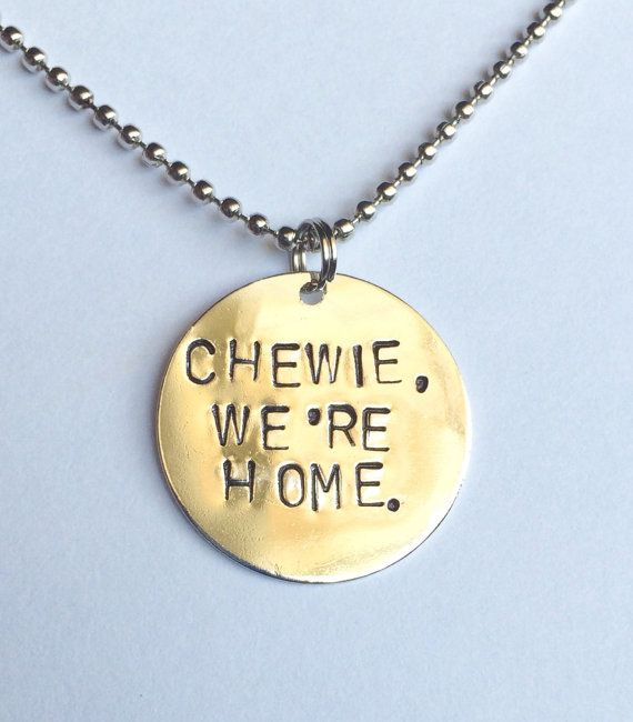 Star Wars Chewie we're home necklace by TheCrownJulies on Etsy