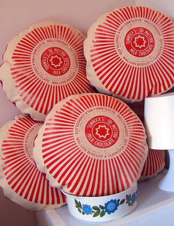 Tunnock's teacakes cushions £18